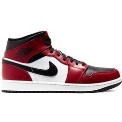Buty Air Jordan 1 Mid Chicago Black Toe - 554724-069