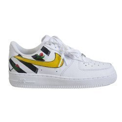 Buty Nike WMNS Air Force 1 Low All White Custom OFF WH Stripes & Flowers - 315115-112