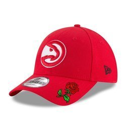 Czapka z daszkiem New Era 9FORTY NBA Atlanta Hawks Custom Rose - 11405618