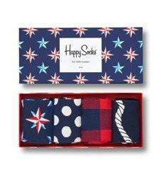 Giftbox 4-pack Skarpety Happy Socks Nautical - XNAU09-6000