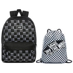 Plecak szkolny Vans Realm Word Check - VN0A3UI7ZM0 + Worek Benched Bag