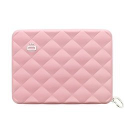 Portfel Aluminiowy Ogon Designs Quilted Passport Wallet Pink