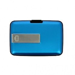 Portfel Aluminiowy Ogon Designs Stockholm Money Clip Blue  RFID protect