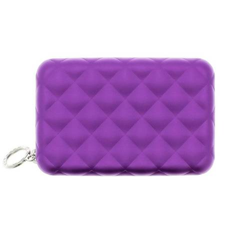Portfel Aluminiowy Ogon Designs Quilted Zipper Purple RFID protect